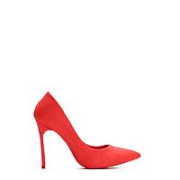 Туфли женские лодочки на шпильке красные с
