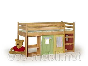 Ліжко Emi sosna з матрацом