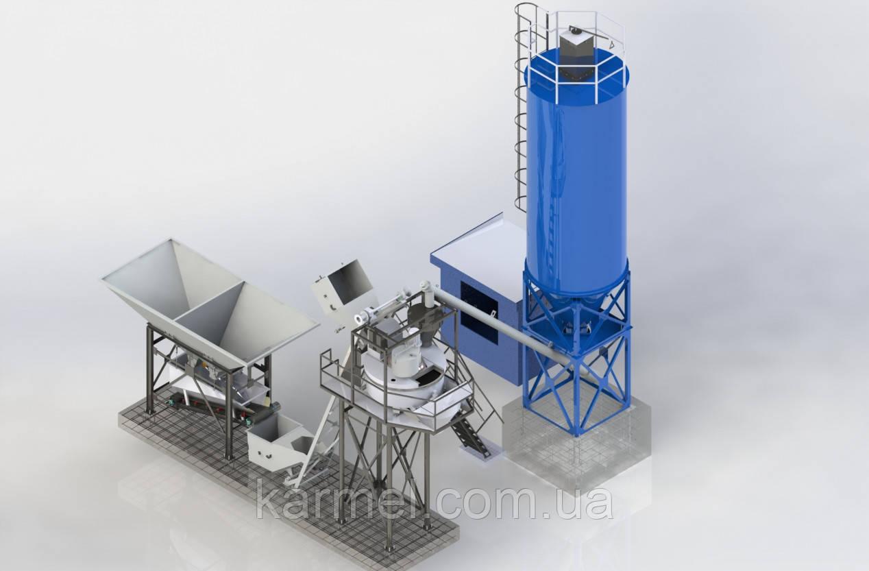 Мобильная бетоносмесительная установка МБСУ-15С от производителя KARMEL - KARMEL в Хмельницком