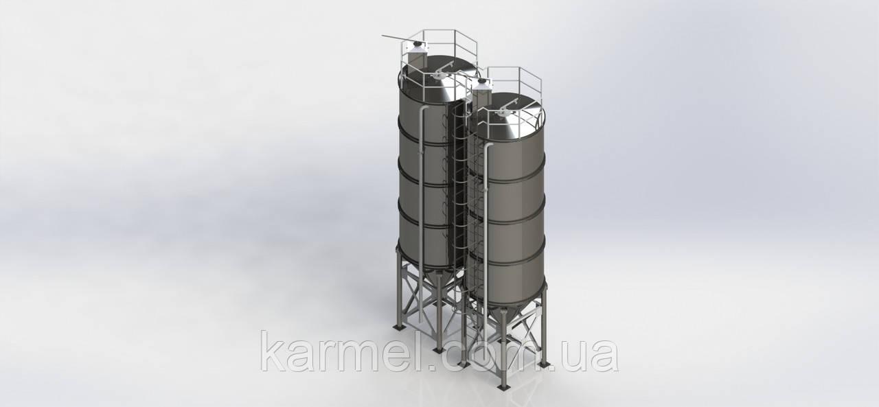 Дозирующий комплекс под цемент на 70 тон. KARMEL