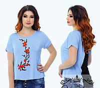 """Стильная женская футболка для пышных дам """" Сакура """" Dress Code"""