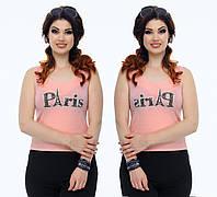 """Стильная женская майка для пышных дам """" Paris """" Dress Code"""