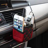 Держатель (органайзер- сумка) для телефона смартфона в автомобиль