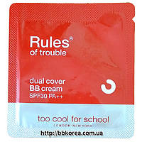 Пробник Too Cool Rules of trouble Dual Cover BB Cream SPF30 PA++
