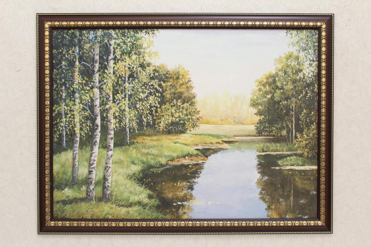 """Картина """"Река в березовой роще"""""""