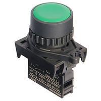 Кнопка управления нажимная с возвратом круглая