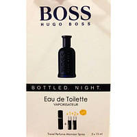 Туалетная вода с феромонами Hugo Boss Bottled Night 3х15 мл.