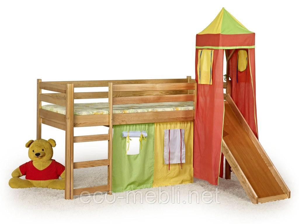 Ліжко Flo olcha з гіркою та матрацом