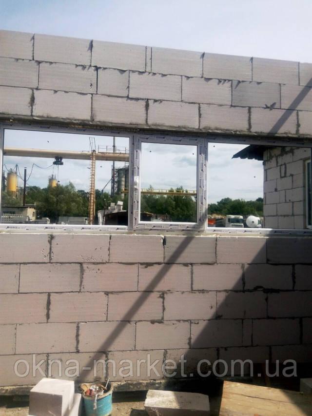 Трехстворчатое окно Виндом в Киеве