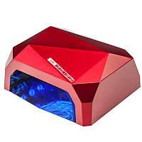Лампа для геля и гель лака ACTIV LAMPA UV CCFL LED Z SENSOREM DIAMOND CZERWONY