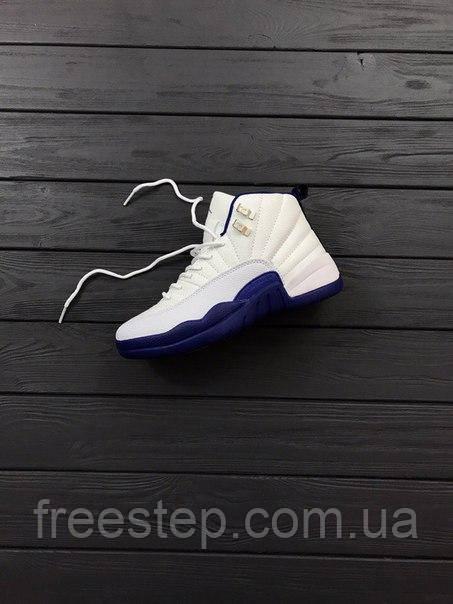 ... компании Nike, изначально разработанный специально для легенды  баскетбола Майкла Джордана! Баскетбольные кроссовки Nike Air Jordan 12  Retro WHITE BLUE ... 4898c7db06d