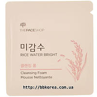 Пробник THE FACE SHOP Rice Water Bright Cleansing Foam