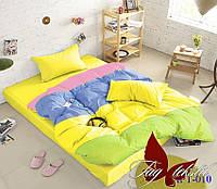 Постельное белье семейное поплин Tag Color mix APT010