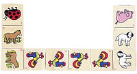 Настольная игра goki wg090g Домино с животными