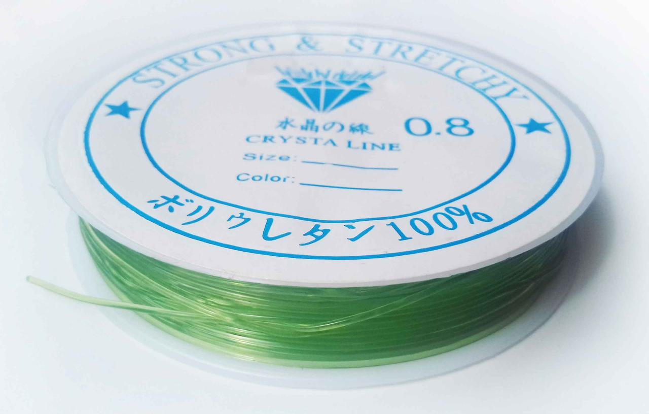 Леска-резинка силиконовая зеленая