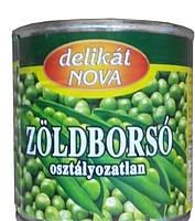 Горошек зеленый Delikat Nova 420 гр