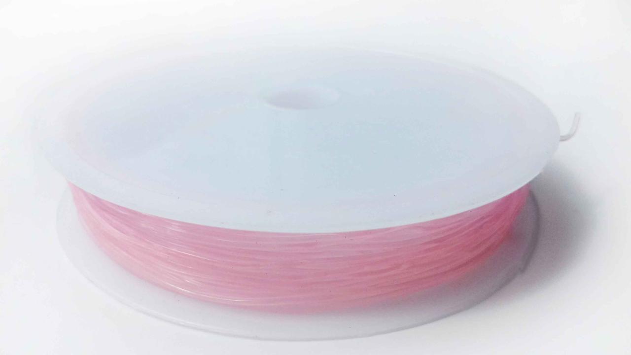 Волосінь-гумка силіконова світло-рожева