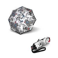 Зонт KNIRPS серый Зонт T.010 Japan  Мех/Складной/8 спиц /D95x18см