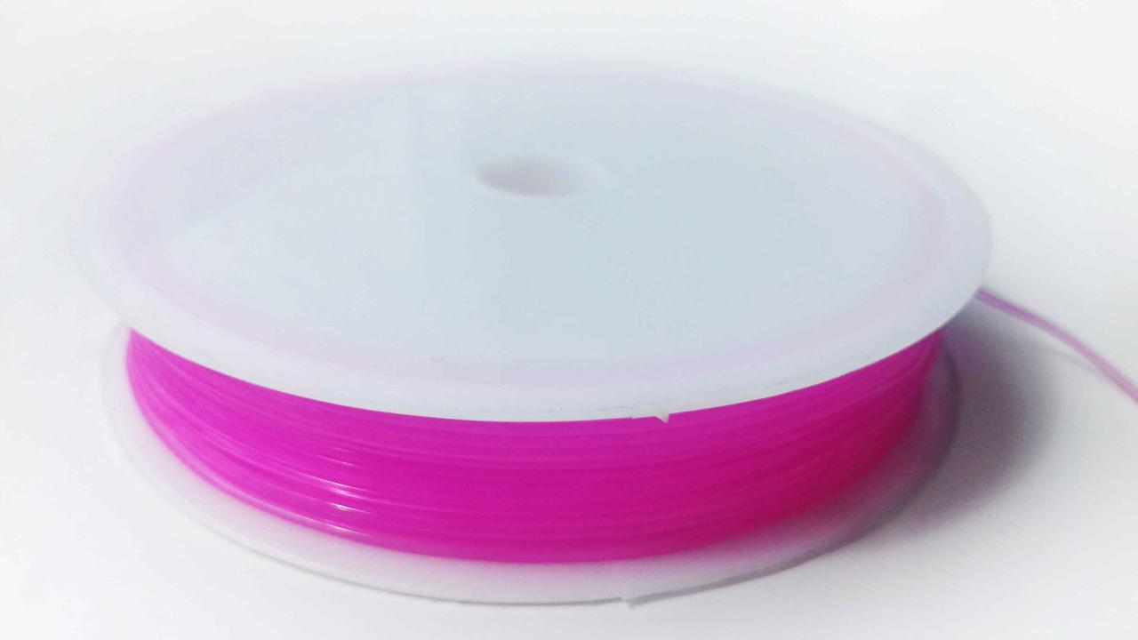 Леска-резинка силиконовая темно-розовая