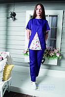 Фиолетовая медицинская куртка Перышки купить в Украине