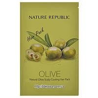 Пробник Nature Republic Olive Scalp Cooling Hair Pack