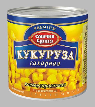 """Кукуруза Сахарная """"Смачна Кухня"""" Консервированная  420г ж/б, фото 2"""