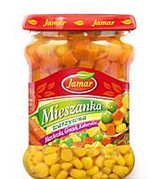 Смесь овощей из гороха, моркови и кукурузы JAMAR 470г.