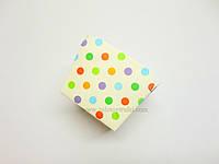 """Формочка бумажная для выпечки """"Квадрат с цветным горошком"""" d 6 см h 5 см"""
