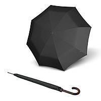 Зонт KNIRPS серый Зонт 923 Long Cube Grey  Полуавто/Трость/10спиц /D111x92см