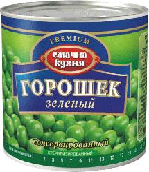 """Горошек Зеленый """"Смачна Кухня"""" Консервированный  425г ж/б"""