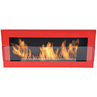 Биокамин  Nice-House  900x400 мм-красный глянец со стеклои