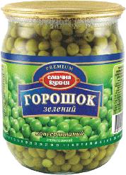"""Горошек Зеленый """"Смачна Кухня"""" Консервированный  500г ст/б"""