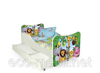 Дитяче ліжко Happy jungle з матрацом