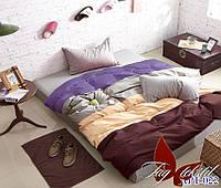 Постельное белье семейное поплин Tag Color Mix №APT022