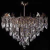 Хрустальная люстра, классическая на 8 лампочек.  P5-E1285/8/FG
