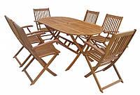 Набір дерев'яних меблів Стіл + 6 кресел (складних)