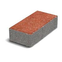 ЗОЛОТОЙ МАНДАРИН Тротуарная плитка Кирпич стандартный 200х100х40 мм коричневый на белом цементе