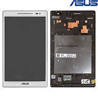 """Дисплейный модуль (дисплей + сенсор) для Asus ZenPad 8.0"""" Z380C / Z380KL, с рамкой, белый, оригинал"""