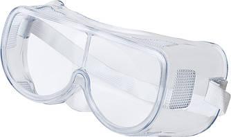Очки защитные закрытого типа на резинке для лица и глаз