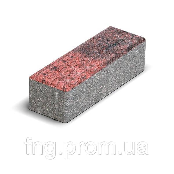 ЗОЛОТОЙ МАНДАРИН Тротуарная плитка Кирпич узкий 210х70х60 мм красный на белом цементе