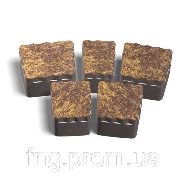 ЗОЛОТОЙ МАНДАРИН Тротуарная плитка Креатив 60 мм коричневый на белом цементе