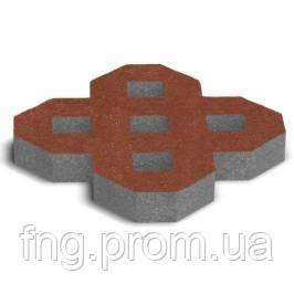 ЗОЛОТОЙ МАНДАРИН Тротуарная плитка Парковочная решетка 500х500х80 мм горчичный на сером цементе