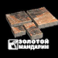 ЗОЛОТОЙ МАНДАРИН Тротуарная плитка Пассион на белом цементе 60 мм (RAL8025/бледно-коричневый)
