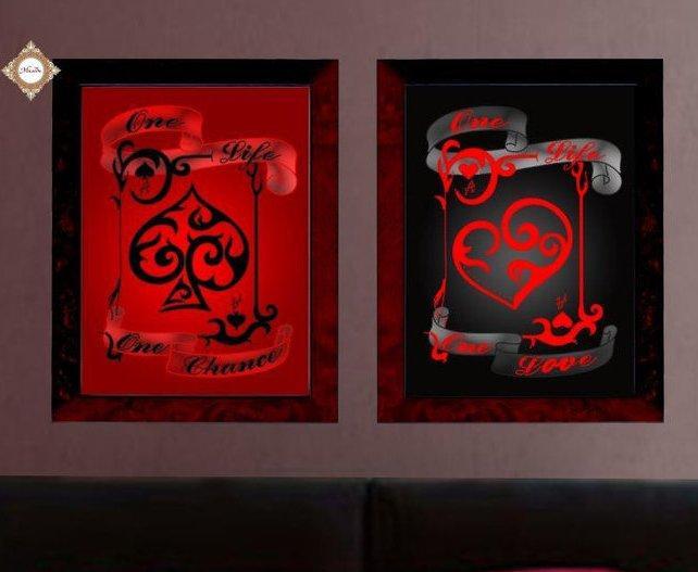 Схема для вышивания бисером Красное и черное (диптих) СЛТ-2213