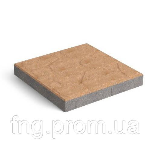 ЗОЛОТОЙ МАНДАРИН Тротуарная плитка Плита 400х400х60 мм коричневый на сером цементе