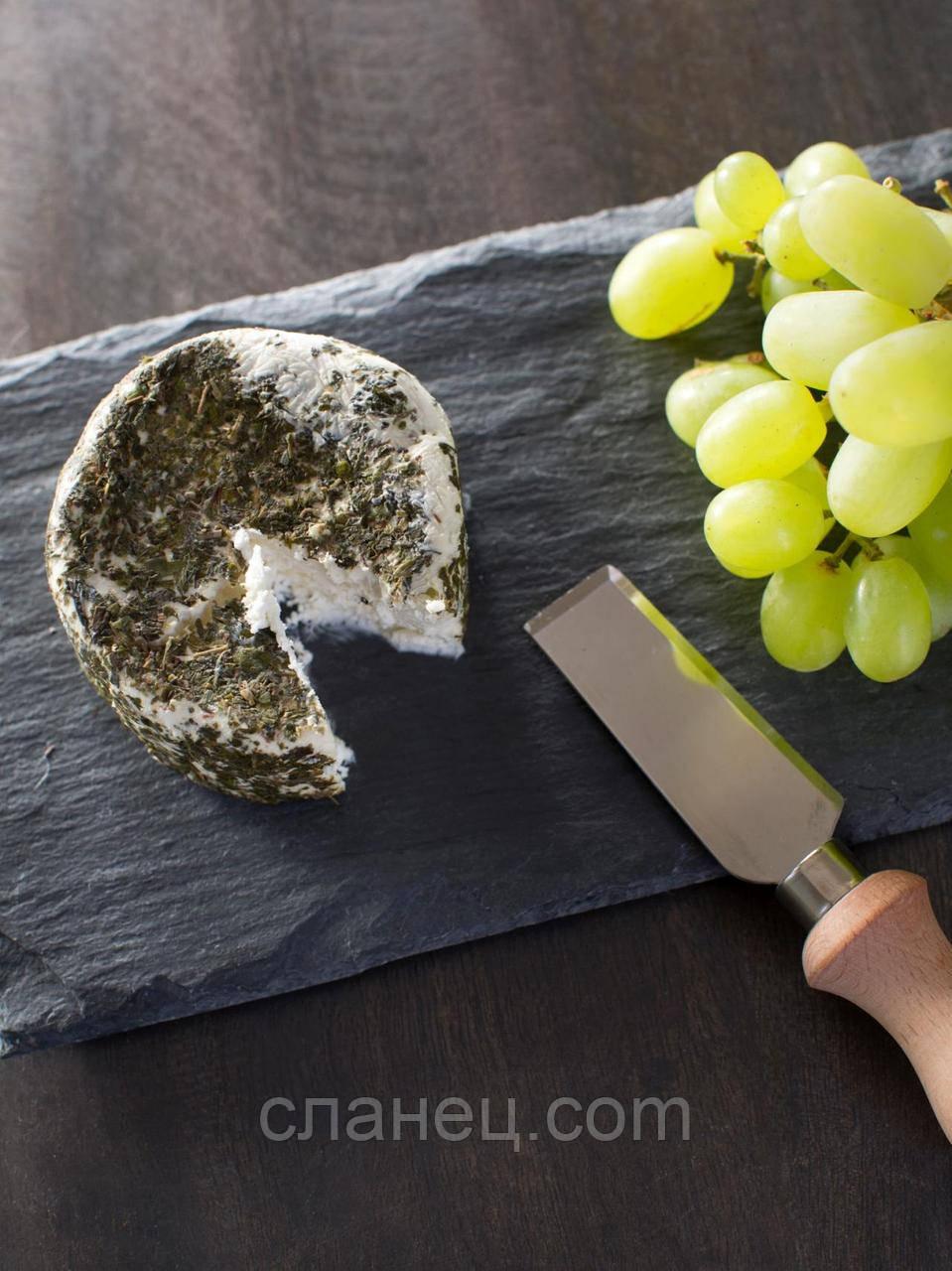 Блюдо для подачи 22х12,5 см; 7 мм, прямоугольное, натур., сланец