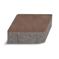 ЗОЛОТОЙ МАНДАРИН Тротуарная плитка Ромб 150х150х60 мм персиковый на белом цементе