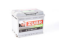 Аккумулятор ZUBR Premium - 57A +левый 500 А