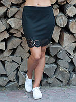 Черная классическая женская юбка