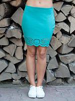 Молодёжная юбка красивого мятного цвета